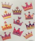 Princess Crowns Glittered Girl Scrapbook Stickers