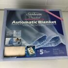 Vintage Sunbeam Electric Automatic Blanket Twin Size 62