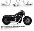 Fit for Harley 2004 2013 Sportster 1200 XL1200 C1 Dual Pipes Muffler Exhaust