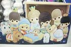 Precious Moments Craft Christmas Nativity Set Paint 12 Piece Wood Stable Display