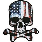 Skull American Flag Officially Licensed Original Artwork Iron On Patch 9x 9