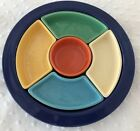 Original  Rare FIESTA RELISH TRAY -  6 ORIGINAL COLORS -80 plus years old