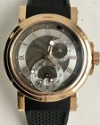 Breguet Marine Automatic Dual Time 18K Rose Gold 42mm On Rubber 5857br/z2/5zu