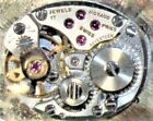 Vintage Movado Watch Movement Swiss 17 Jewels w Gold Tone Face Runs Keeps Time