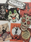 Halloween Gift Tags DIE CUT 12 Piece 12 Vintage Style Handmade In The USA