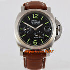 Power reserve parnis 44mm seagull movement brushed case date automatc watch P03
