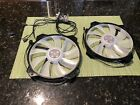 Coolermaster 200mm MF200R ARGB Fans x2 With RGB Controller from H500m case