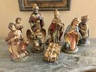 Vtg NATIVITY SET Large Figures 25 12 Tall 8 Pieces Japan Dickson