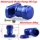 Blue Universal Motorcycle Aluminum Alloy Brake Pump Oil Cup with Bottom Cover