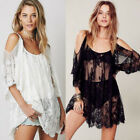 Womens Lace Crochet Bikini Beachwear Cover Up Beach Dress Summer Bathing Suit US