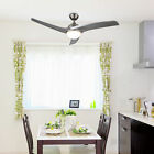 Modern Ceiling Fan w LED Panel Light  Remote Control Silver Color Blades