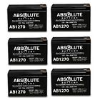 6 PACK NEW AB1270 12V 7AH BATTERY FOR RAZOR E200 E300S ELECTRIC SCOOTER