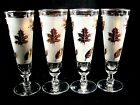 Vintage Libbey Glass Company, pilsner glasses set of FOUR,