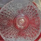 Vtg L.E. Smith Glass Crystal Clear Punch Bowl w/18 cup Party Wedding Fruit Salad