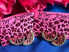 Betsey Johnson Pink Red Watermelon Fruit Crystal Earrings Adorable NEW