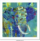 An Elephant Painted With Acrylics On Canvas Art Print Home Decor Wall Art Poster