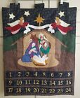 Advent Fabric Wall Hanging Nativity Hark Angels Calendar 185 x 24 Inches