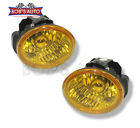 JDM Super Yellow Factory Style Glass Lens Fog Lights For Altima Murano FX35 FX45
