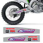 KAWASAKI KX 250F 450F SWINGARM DECAL GRAPHICS RENTHAL BRAKING FX  2006-2018