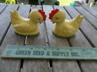 Vintage Salt and Pepper Shakers Yellow Chickens Roosters