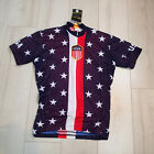 World Jerseys 1956 Retro USA Cycling Jersey Red White Blue Medium nk