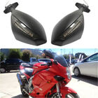 LED Turn Signals Indicator Motorcycle Rearview Mirrors For Hyosung GT250R GT650R