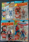 4 diff 1992 Toy Biz Marvel MOC Lot Spider Man Invisible Woman Daredevil US Agent