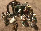 Nativity Complete Set 10 Piece 3D Background Manger Scene Creche Animals Jesus
