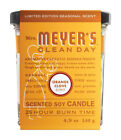 Mrs. Meyer's  Clean Day  Orange Clove Scent Ivory  Soy  Air Freshener Candle  3.