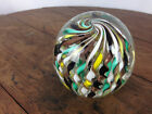 Vintage Art Glass Paperweight Twisted Spirals WH 16
