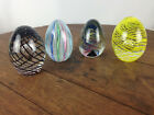Vintage Egg Shaped Lot of 4 Art Glass Paperweights WH 16