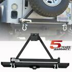 Rear Bumper With Tire Carrier + Lock + Hitch Receiver For Jeep Wrangler TJ YJ