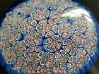 Vintage Murano Millefiori Paperweight Large35 x 25 Beautiful Blue