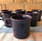 6 Fiesta ware Ring Handled Mugs Purple/Plum Tom and Jerry Mugs