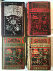 G A Henty LOT of 4 vintage hardcover childrens adventure books 1900s Victorian
