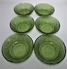 6 Anchor Hocking Soreno Cereal Bowls Avocado Green Soup Salad Olive Vtg Retro