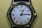 Ebel 1911 Ladies 18K Solid Gold Bezel Mother of Pearl Dial Excellent Condition