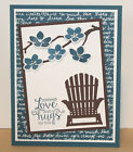 GREETING CARD KIT x4 Handmade Stampin Up Supplies Sympathy Get Well Any Occasion