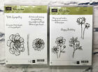 Stampin up Bloom with Hope Birthday Sympathy flowers and stem stamp Set of 11