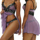 Plus Size Sexy-Womens-Lace-Lingerie-Dress-G-string-Babydoll-Underwear-Sleepwear