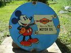 VINTAGE SUNOCO MERCURY MADE MOTOR OIL PORCELAIN ENAMEL GAS PUMP STATION SIGN