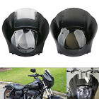 Quarter Headlight Fairing Windshield Kit For Harley Sportster XL883 1200 88-Up