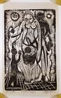 STEFFEN THOMAS WOODCUT FAMILY OF MAN 1968 SIGNED EXPRESSIONIST ART PRINT