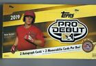 2019 Topps Pro Debut Hobby Baseball Sealed Box- 2 Autos + 2 Relics