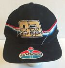 Vtg NASCAR Amoco Racing Snapback Hat Cap Sports Promo Gas Black Baseball