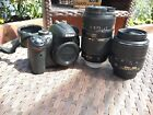 Nikon d5000 camera 2 lenses 18-55 Nikon & 70-300 Tamron pwo boxed UK only D5000