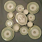 Eggshell Georgian Homer Laughlin China 1940's 20 Pieces Green Floral with Gold