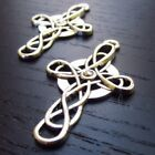Celtic Cross Charms 41mm Antiqued Silver Plated Pendants C1824 5 10 Or 20PCs