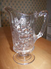 Stunning Antique 1880s EAPG Pattern Glass Pitcher Loganberry Grape Blackberry