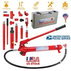 10 Ton Capacity Hydraulic Bottle Jack Ram Pump Auto Body Frame Repair Tool Kit